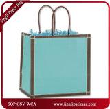 Le cadeau de achat d'achats de sac de papier de clients élégants argentés met en sac des sacs de Papier d'emballage