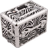 Caso di alluminio cosmetico di memoria dello strumento di bellezza della superficie di stampa della zebra (Sbct-12)