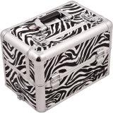 Zebra-Druckoberfläche-Schönheits-kosmetischer Aluminiumhilfsmittel-Speicher-Fall (Sbct-12)