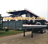 Flatbed aanhangwagen van tri-assen 40FT, de Aanhangwagen van de Container, semi aanhangwagen