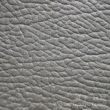 Tissu gravé en relief de tissu de composé de cuir de suède pour la décoration à la maison