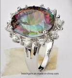 신비한 황옥과 색깔 돌 (TR1222)로 놓이는 보석 반지