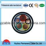 0.6/1kv cabo do PVC XLPE Gswa do cabo distribuidor de corrente 4X120mm2 do PVC do Swa do Cu XLPE/PVC