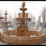 Fontana di pietra di marmo Mf-1030 dell'oro di Ny del giardino del granito