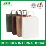 Gedruckter kundenspezifischer Form-Kunst-Einkaufen-Geschenk-Kraftpapier-Handpapierbeutel