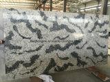 Сляб бежевых Китая оптовый/черноты/серой белизны искусственний кварца камня