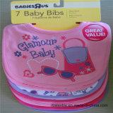 Bib младенца хлопка 100% мягкий с вышивкой