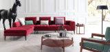 Sofá Ms1406 moderno contemporáneo de la esquina de la sala de estar de la tela del sofá