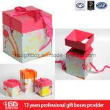 Caja de lujo del perfume del papel de la cartulina con la tapa y la base