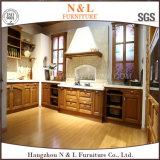 N et L Module de cuisine debout libre de meubles en bois solide