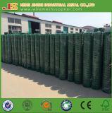 O PVC da cor verde revestiu a cerca de abertura do engranzamento de fio das aves domésticas do pintainho de 50*50mm