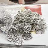 Runde Form-Baum-Anhänger-Schmucksachen, die Halsketten-Charme des Sitz-DIY bilden