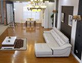 Conjunto de cuero italiano del sofá, sofá de la esquina, fábrica de cuero del sofá (608)
