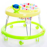 2016 caminhantes plásticos do bebê das rodas mudas Foldable com o certificado En71