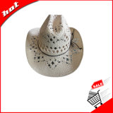 Sombrero impreso del papel de sombrero de paja del sombrero de vaquero
