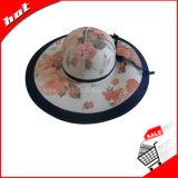 Chapéu flexível da mulher do papel de palha da borda larga