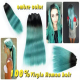 Ombre 2の音色の100%年のバージンの人間の毛髪の拡張
