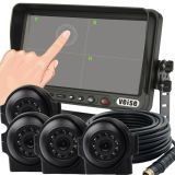 Bus Touch Screen Quad Monitor Camera System (DF-767C05104)