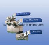 Plein amorçage gauche de robinets à tournant sphérique de la Chine 2PC
