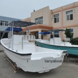 Barco do Panga da embarcação do barco de pesca da fibra de vidro de Liya 7.6m para a venda
