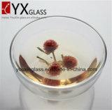 Tazza doppia della tazza di vetro bevente di vetro di Borosilicate/della ciotola di vetro