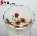 Doppel-wandiges Glasfilterglocke-/Borosilicat-Glas-trinkendes Glas-Becher-Cup