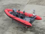 Barco del salto de China Aqualand el 19FT/bote patrulla del rescate de la costilla/barco inflables los 5.8m rígidos del coche (rib580t)