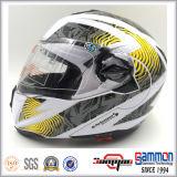 Двойные забрала слегка ударяют вверх по шлему мотоцикла с сертификатом МНОГОТОЧИЯ (LP508)