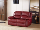 Sofá del cuero genuino de la sala de estar (C853)