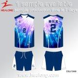 ブランドの染料によって昇華させるバレーボールのトレーニングのユニフォームを設計しなさい