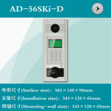 デジタルボタン(AD-56SKI-D)が付いているビデオドアの電話シェル