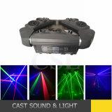 9 luz laser de la pista móvil verde de la araña de los ojos RGB/Single