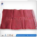 Roter Polyineinander greifen-Brennholz-Großhandelsbeutel 10kg