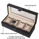 Коробка хранения вахты шлицев кожи 5 PU равнины верхнего сегмента изготовленный на заказ