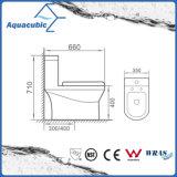 D'une seule pièce conjuguent la toilette en céramique affleurante dans le blanc (ACT7004)