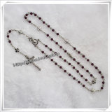 Le plastique religieux de poste perle le rosaire (IO-cr239)