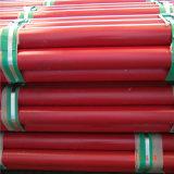 Het rood schilderde de Gelaste Gegroefte Brandbestrijding van de Pijp van de Structuur van het Staal van het Eind