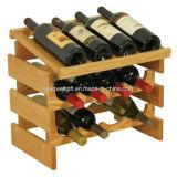 Crémaillère de 12 vins avec le support de vin de rangée de quarte de dessus d'étalage