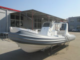 Barco recreacional inflable de China de la velocidad de la fibra de vidrio de la calidad de Liya el 17FT (HYP520D)