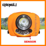 "Chengli Highquality 100lumens CREE White LED+2PCS Red LED Sensor Headlamp mit 3PCS 1.5V ""Aaa"" Size Battery (LA1229)"