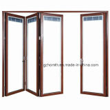 Folding de aluminio Doors con Internal Blinds (HM-822)