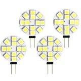 12PCS 5050SMD G4 lâmpadas puras/mornas de 12V do branco do diodo emissor de luz do carro