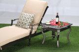 Tabella di tè esterna del quadrato della fusion d'alluminio della mobilia di disegno moderno