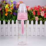 240ml Crystal Diamond Baby Glass Bottle con Handle