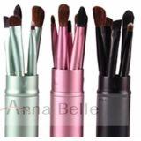 Cuidado de la belleza promocional haciendo publicidad de 5 cepillos cosméticos del conjunto/del maquillaje de cepillo del PCS con área de impresión grande