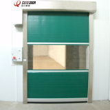 Porta de alta velocidade do rolamento do PVC da oficina industrial do armazém com radar