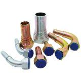 掘削機の使用の炭素鋼の油圧管のホースフィッティング