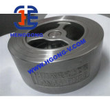 Válvula de verificação da bolacha do disco da mola de aço de API/DIN Stainles única