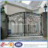 La puerta del metal, puerta forjada del metal del hierro, metal galvanizado del hierro bloquea diseños