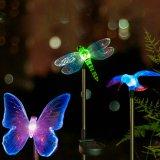 Luz solar de la libélula de la decoración del jardín para el camino